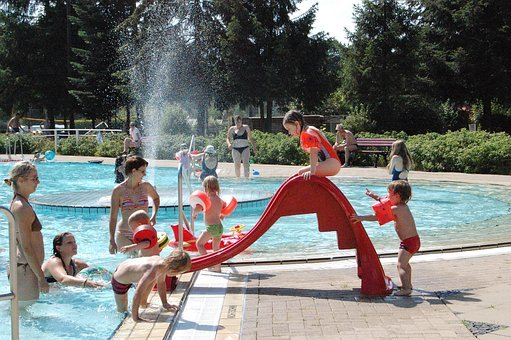 Outdoor Pool, Slide, Swimming Pool, Water Slide