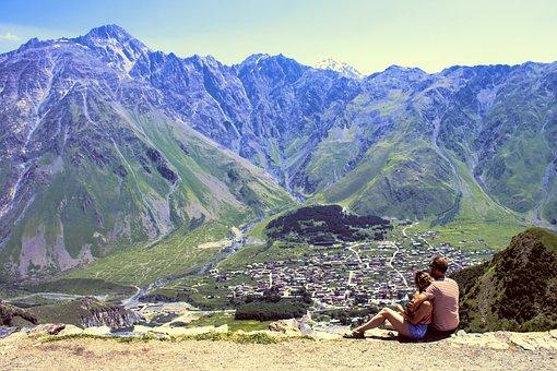 Georgia, Kazbek, Mountain, The Caucasus, Travel