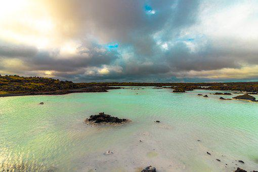 Lagoon, Iceland, Water, Landscape, Blue, Cold, Sky