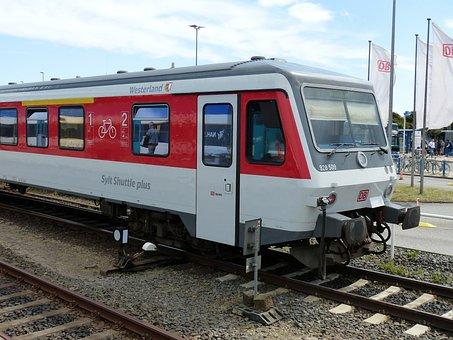 Railway, Railway Station, Locomotive, Westerland, Sylt