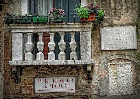 Venice, House Facade, Balcony