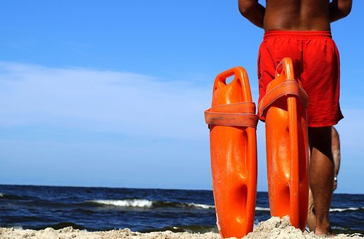 Lifeguard On Duty, Baywatch, Help, Security, Guard