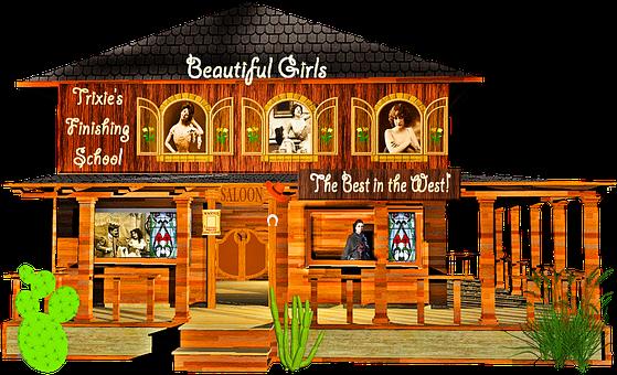 Bordello, Wild West, Western, Prostitution, Whore House