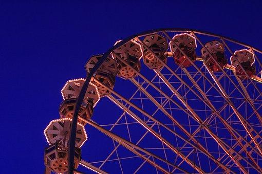 Ferris Wheel, Folk Festival, Carnies, Fair, Cologne