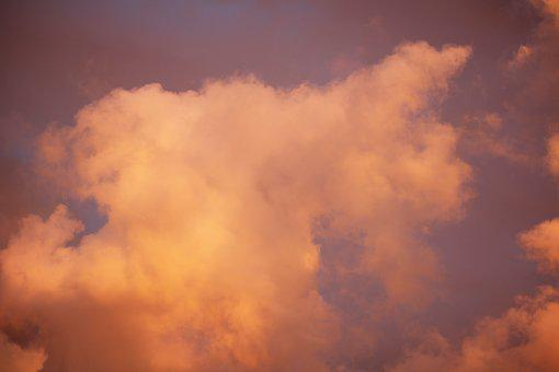 Sunset, Pink, Yellow, Clouds, Cloudscape, Nature