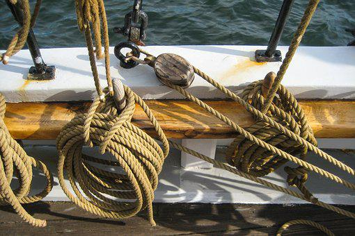 Sailing Vessel, Rope, Dew, Cordage, Ship Accessories