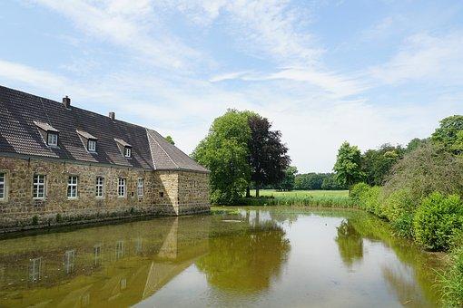 Castle, Wasserschloss, Dorsten, Recklinghausen, Museum