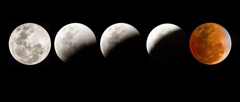 Blood Moon Eclipse, Moon, Eclipse, Night, Sky, Space
