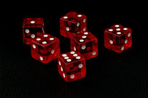 Cube, Red, Crystal Optics, Gambling, Craps, Color, Win