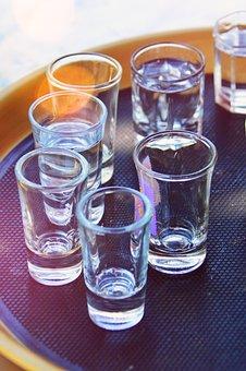 Glasses, Brandy, Glass, Transparent, Drink, Design, Old
