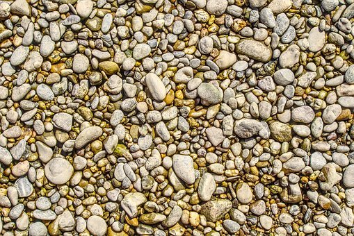 Pebble, Gravel, Stones, Gravel Bed, Riverbed, Dry
