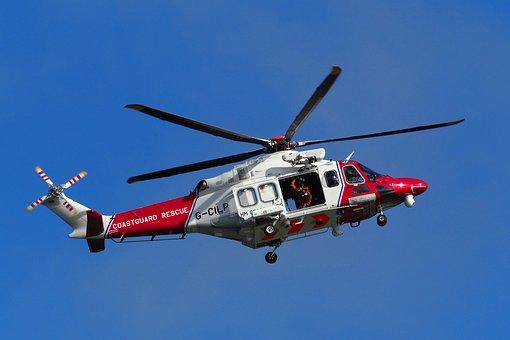 Helicopter, Coastguard, Rescue, Salvation, Help
