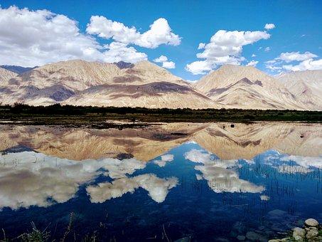 Landscape, Mountain, Lake, Mirror View, Reflection