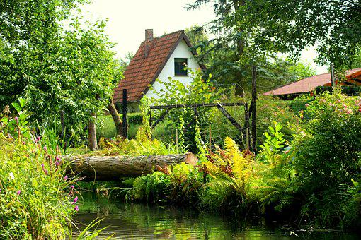 Village, Landscape Rural, Channel, Water, The Stage