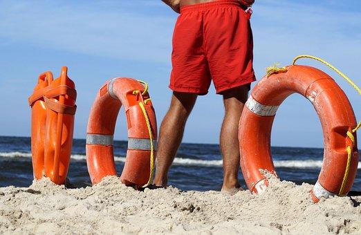 Lifeguard On Duty, Baywatch, Lifebelt, Help, Security