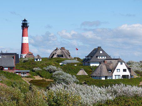 Hörnum, Sylt, Island, Lighthouse, Vacations, North Sea