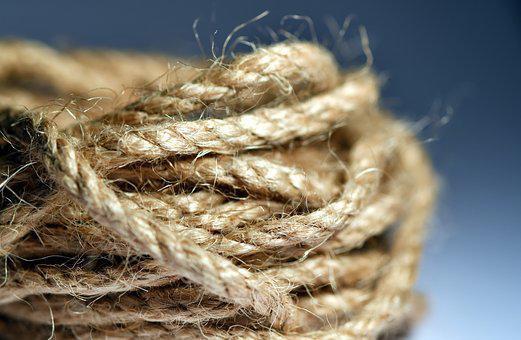 Rope, Navy, Macro