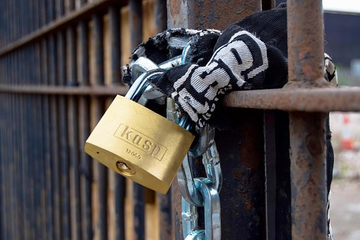 Lock, Padlock, Security, Metal, Fence, Closed, Protect