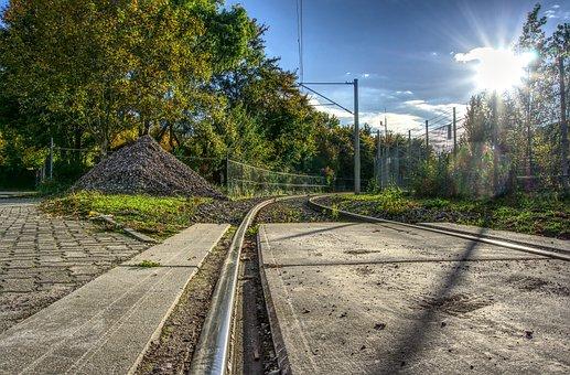 Rail, Gleise, Railway, Transport, Sun, Backlighting