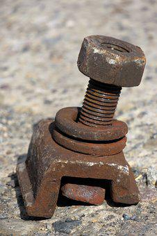 Mother, Screw, Iron, Rust, Railway, Gleißbett Screws