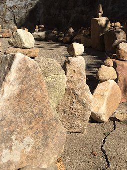 Rocks, Rock Balancing, Labyrinth, Stacked Stones