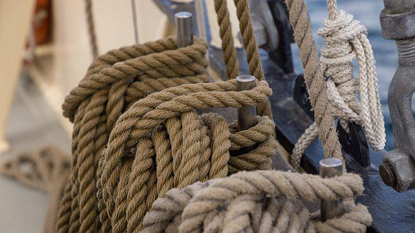 Rope, Knot, Tied, Boat, Nautical, Sea, Seafaring