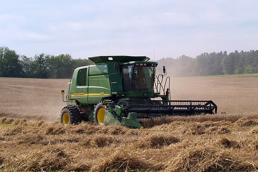 John Deere, Agriculture, Combine, Farm, Harvest, Rural
