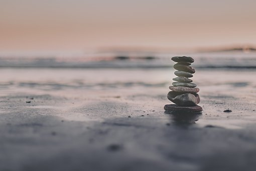 Summer, Beach, Stacking, Ocean, Water, Sea, Balance