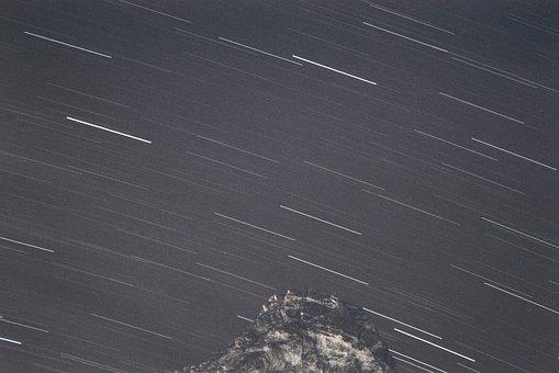 Star Trails, Star, Sky, Startrails, Movement, Night