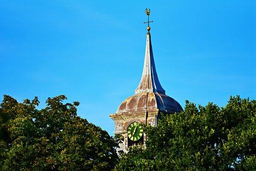 Church Tower, Steeple, Spire, Weather Vane
