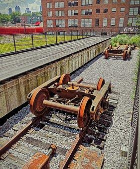 Bogie, Gleise, Rails, Track Bed, Gravel, Rail Traffic