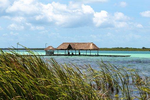 Laguna, Palapa, Water, Nature, Landscape, Viewpoint