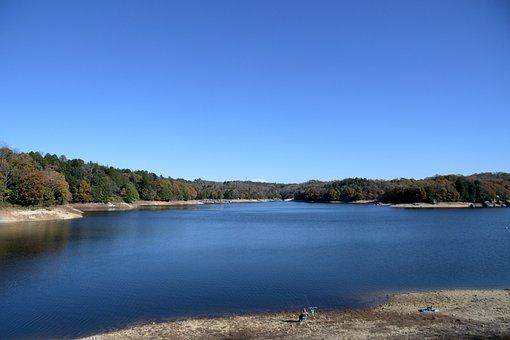 松野湖, Matsuno Pond, Fishing, Lake, 鬼岩 Park, Mizunami