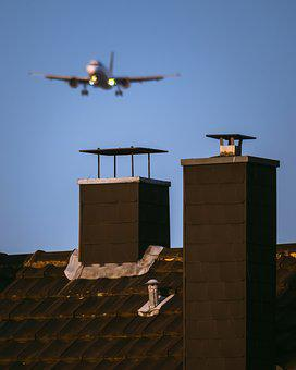 Fireplace, Chimney, Aircraft, Roof, Landing, Tile