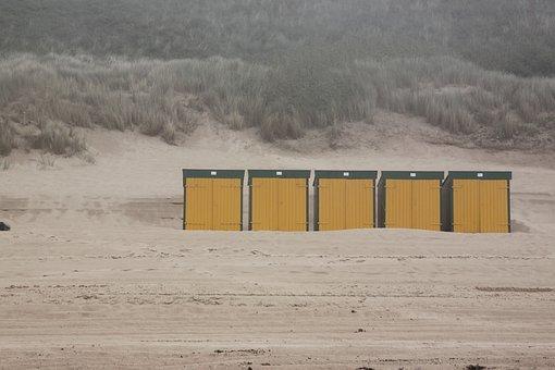 Beach, Dune, Dunes, Coast, Grass, Yellow, House