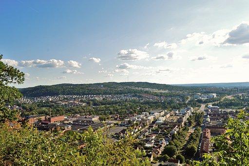 View, Huskvarna, Jönköping, Sweden, Today, Blue, Summer