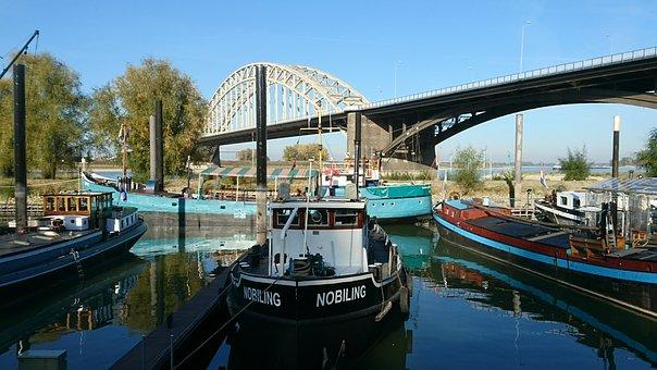 De Waal, Nijmegen, River, Quay, The Kaaij, Bridge
