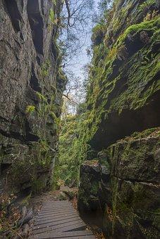 Cleft, Chasm, Rocks, Natural, Peak District, Landscape