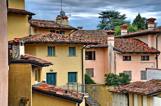 The Roofs, City, Alley, Italy, Tourism, Buildings