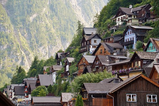 Hallstatt, Historical, City, Wooden, Houses, Unesco