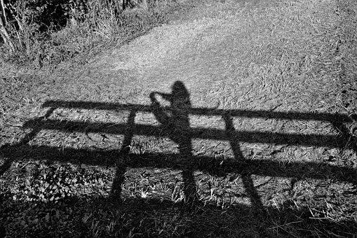 Shadow, Railing, Bridge Rail, Woman, Yoga, Exercise