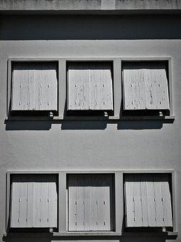 Architecture, Window, Facade, Shutters, Roller Shutter
