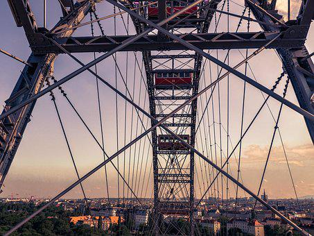Vienna, Prater, Ferris Wheel, Sky