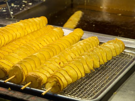 Potato, Festival, Night Stalls, Fried Foods