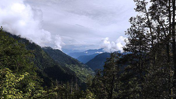 India, Mountain, Hills, Travel, Sky, Sunlight