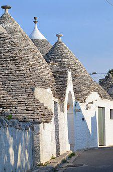 Italy, Trullo, House, Alberobello, Puglia, Village