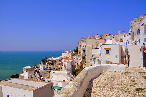 Houses, Sea, Historian, Center, Peschici, Puglia
