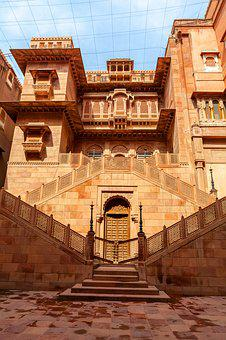 Junagarh, India, Bikaner, Palace, Old, Architecture
