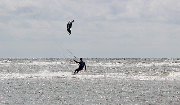 Denmark, Romo, Beach, North Sea, Kite Surfing, Sea