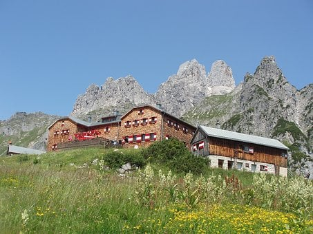 Hochpürglhütte, Salzburg, Mountain Hut, Bischofsmütze